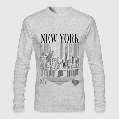 New york Pencil - Men's Long Sleeve T-Shirt by Next Level