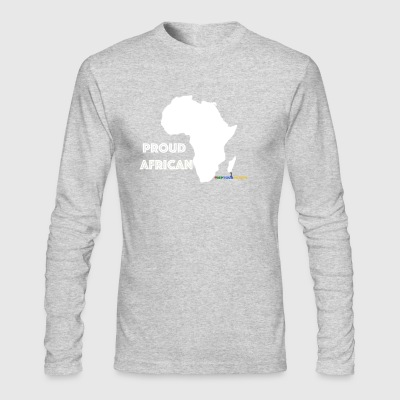 #RepYourNation: Proud African - Men's Long Sleeve T-Shirt by Next Level