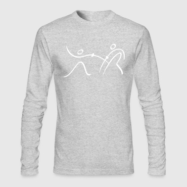 Fencing Pictogram - Men's Long Sleeve T-Shirt by Next Level