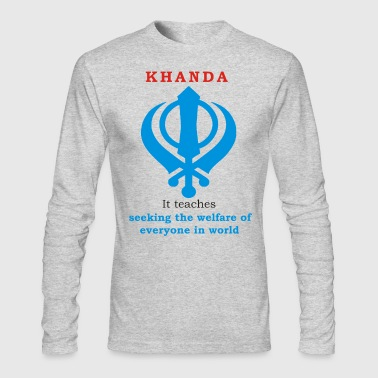 SIKH KHANDA - Men's Long Sleeve T-Shirt by Next Level