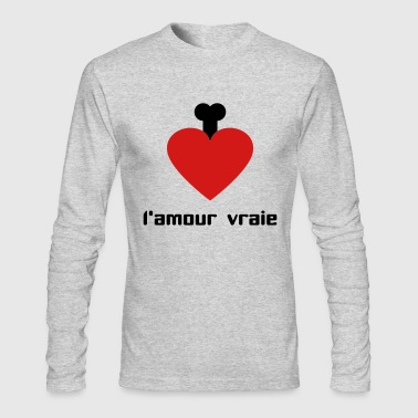 l´amour vraie - Men's Long Sleeve T-Shirt by Next Level
