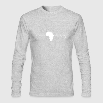 Heartbeat Africa - I love Africa - Men's Long Sleeve T-Shirt by Next Level