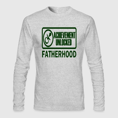 Fatherhood Achievement Unlocked funny gamer dad - Men's Long Sleeve T-Shirt by Next Level