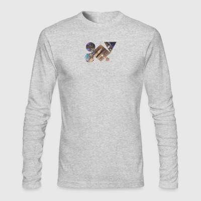 drum shapes - Men's Long Sleeve T-Shirt by Next Level