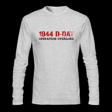 1944 D-Day Operation Overlord (Red) - Men's Long Sleeve T-Shirt by Next Level