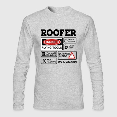 6254398 129692482 roofer - Men's Long Sleeve T-Shirt by Next Level