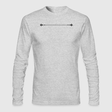 Dividing Lines - Men's Long Sleeve T-Shirt by Next Level