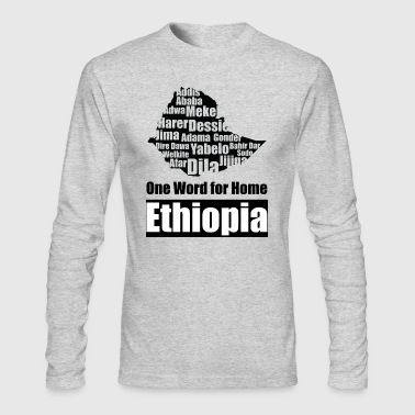 one word for home Ethiopia - Men's Long Sleeve T-Shirt by Next Level