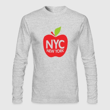 Green Big Apple NYC - Men's Long Sleeve T-Shirt by Next Level