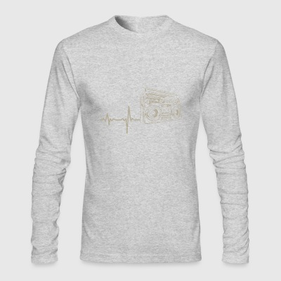shirt gift heartbeat radio - Men's Long Sleeve T-Shirt by Next Level