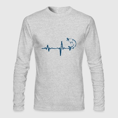 gift heartbeat fishing 01 - Men's Long Sleeve T-Shirt by Next Level