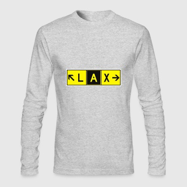 LAX Airport Taxiway Direction Sign Array RWY - Men's Long Sleeve T-Shirt by Next Level