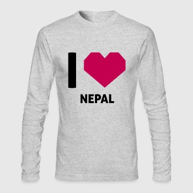 I Love Nepal - Men's Long Sleeve T-Shirt by Next Level
