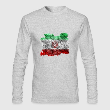 Iran Vintage Flag - Men's Long Sleeve T-Shirt by Next Level