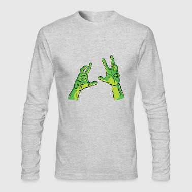 Scary Green Hand - Men's Long Sleeve T-Shirt by Next Level
