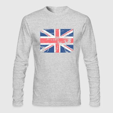 Vintage British FLAG - Men's Long Sleeve T-Shirt by Next Level