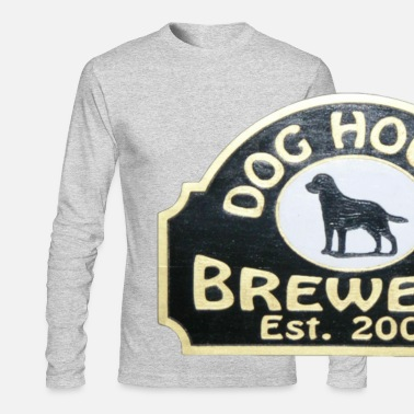 House Dog House Brewery - Men's Long Sleeve T-Shirt Gray - Hair of the Dog - Men's Longsleeve Shirt