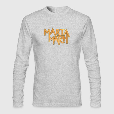 Marta Match Game - Men's Long Sleeve T-Shirt by Next Level