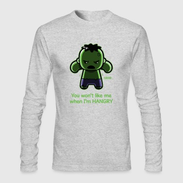 The Hangry Hulk - Men's Long Sleeve T-Shirt by Next Level