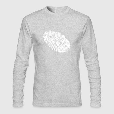 fingerabdruck dna dns geschenk Maurer - Men's Long Sleeve T-Shirt by Next Level