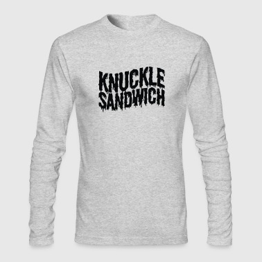 Knuckle Sandwich Ringer - Men's Long Sleeve T-Shirt by Next Level