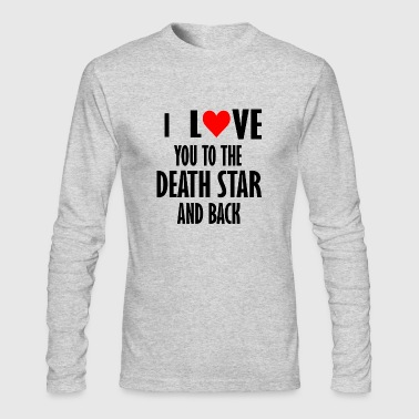 i love you to the death star - Men's Long Sleeve T-Shirt by Next Level