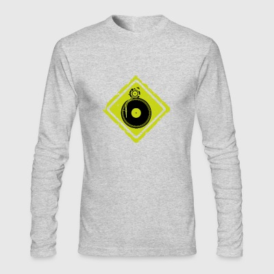 dj turntable sign - Men's Long Sleeve T-Shirt by Next Level