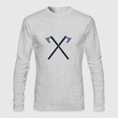 double axes - Men's Long Sleeve T-Shirt by Next Level
