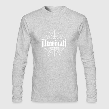illuminati Conspiracy typography sign - Men's Long Sleeve T-Shirt by Next Level
