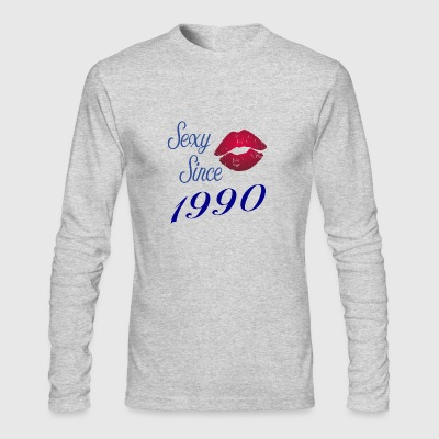 Sexy since 1990 birthday gift year girlfriend - Men's Long Sleeve T-Shirt by Next Level