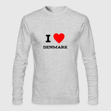 i love denmark - Men's Long Sleeve T-Shirt by Next Level