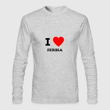 i love Serbia - Men's Long Sleeve T-Shirt by Next Level
