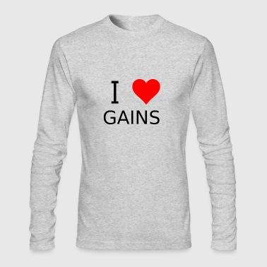 I love gains - Men's Long Sleeve T-Shirt by Next Level
