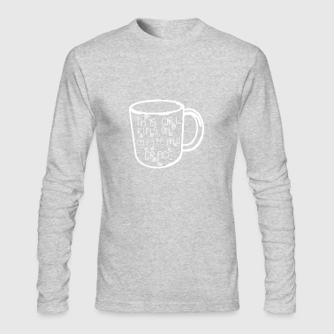 this girl runs on coffee - Men's Long Sleeve T-Shirt by Next Level