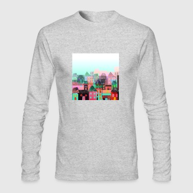 city town - Men's Long Sleeve T-Shirt by Next Level
