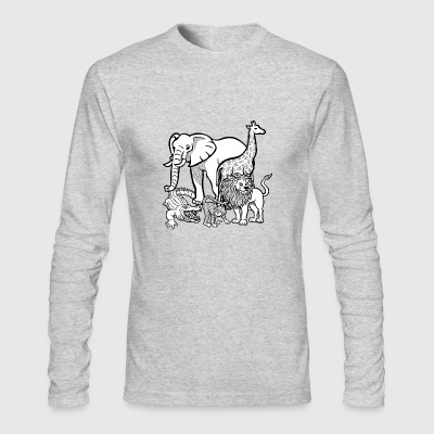 zoo animals - Men's Long Sleeve T-Shirt by Next Level
