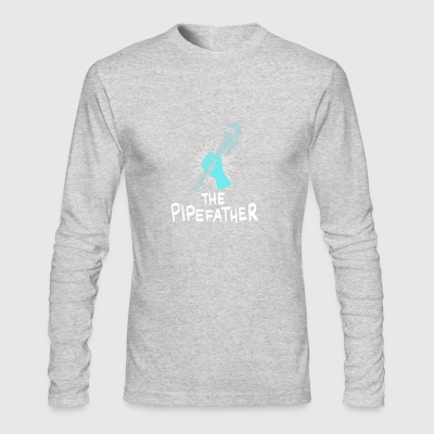 Plumber Craftsman Repair Fix DIY Pipes Funny Gift - Men's Long Sleeve T-Shirt by Next Level