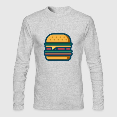 hamburger cheeseburger fastfood barbecue bbq essen - Men's Long Sleeve T-Shirt by Next Level