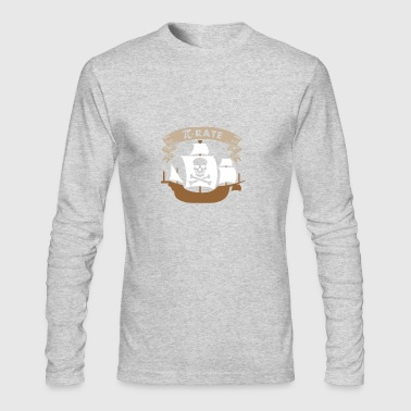 Pi-rate math teachers pirates funny design - Men's Long Sleeve T-Shirt by Next Level