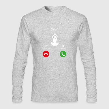 Call Mobile Anruf yoga - Men's Long Sleeve T-Shirt by Next Level