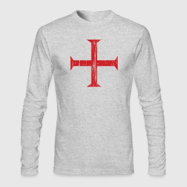 Knights Templar Crusader Cross - Men's Long Sleeve T-Shirt by Next Level
