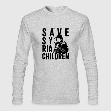 save syria children - Men's Long Sleeve T-Shirt by Next Level