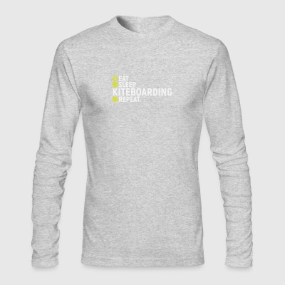 Eat, sleap, kiteboarding, repeat - gift - Men's Long Sleeve T-Shirt by Next Level