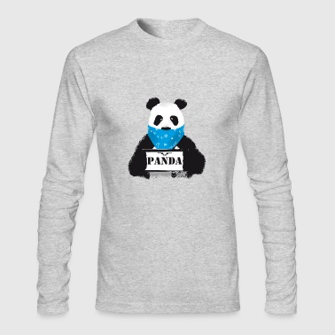 panda search Police Demo anti humor Style lol fun - Men's Long Sleeve T-Shirt by Next Level
