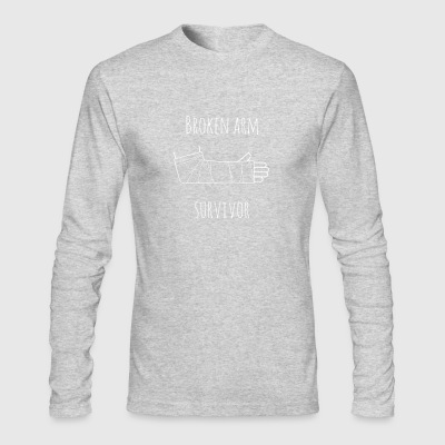 broken arm survivor - Men's Long Sleeve T-Shirt by Next Level