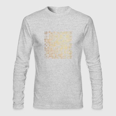 gold dots - Men's Long Sleeve T-Shirt by Next Level