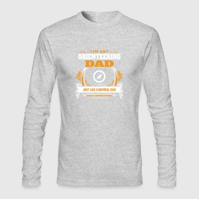 Orienteering Dad Shirt Gift Idea - Men's Long Sleeve T-Shirt by Next Level