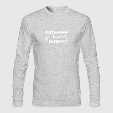 Faith Family Farming Funny Farmer Love - Men's Long Sleeve T-Shirt by Next Level