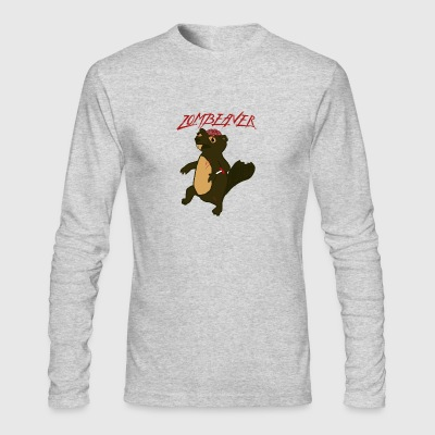 Zombeaver - Zombie Beaver - Men's Long Sleeve T-Shirt by Next Level