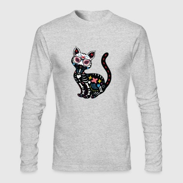 cat with glasses - Men's Long Sleeve T-Shirt by Next Level